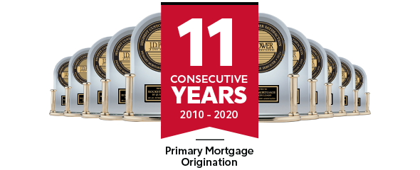 J.D. Power - 11 Consecutive Years - Primary Mortgage Origination