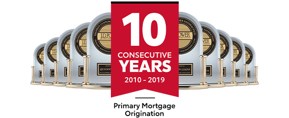 J.D. Power - 10 Consecutive Years - Primary Mortgage Origination