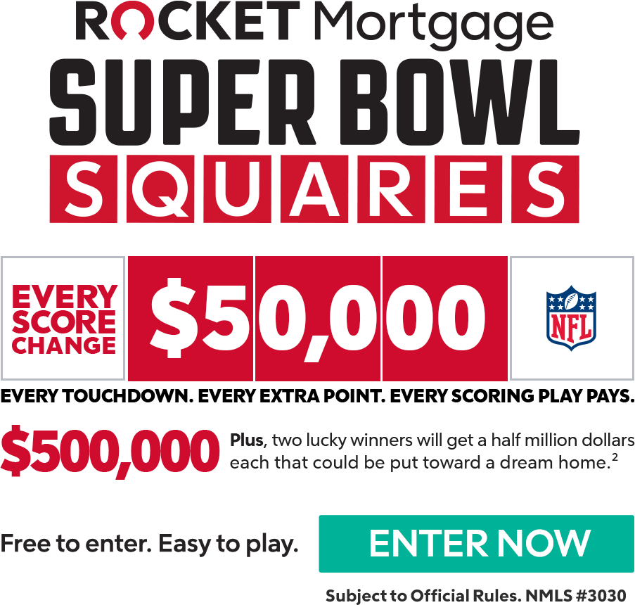 Rocket Mortgage Super Bowl Squares Details