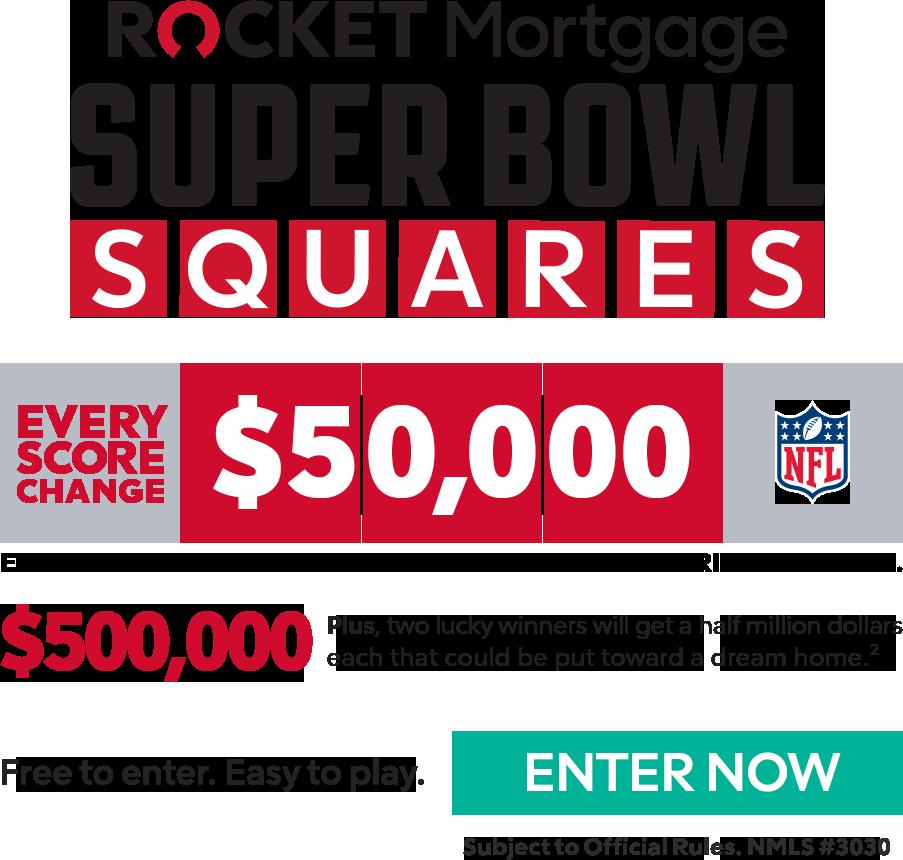 Rocket Mortgage Super Bowl Squares Details