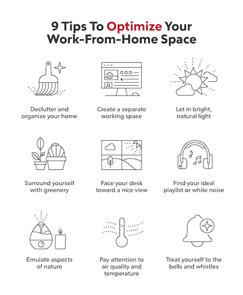 Optimize your work from home space